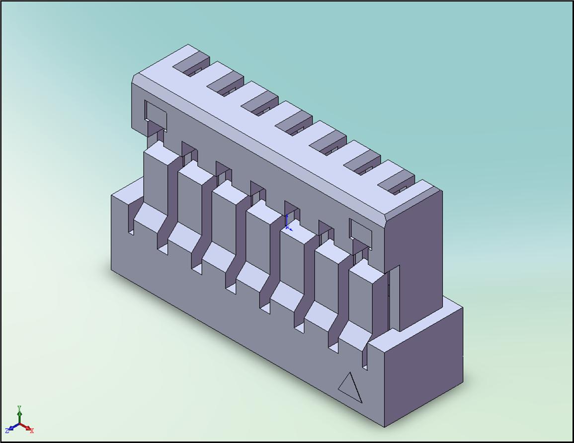 CI14 Series Connector:3D圖
